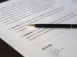 insurance signature paperwork